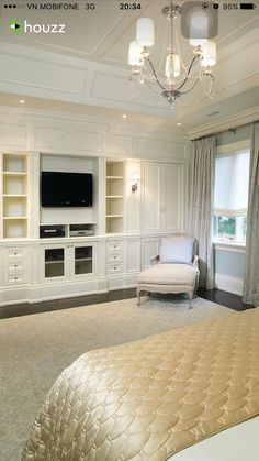 Bedroom Photos Master Bedroom Design, Pictures, Remodel, Decor and Ideas - page 2 Built ins and ceiling Contemporary Bedroom Furniture, Built In Furniture, Bedroom Furniture Design, Master Bedroom Design, Home Bedroom, Furniture Ideas, Master Suite, Bedroom Closets, Bedroom Designs