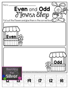 Even and odd flower shop and a lot more FUN and engaging NO-PREP printables!