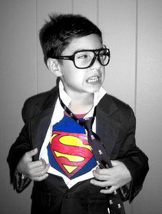 Clark kent, superman boys photo idea, Halloween