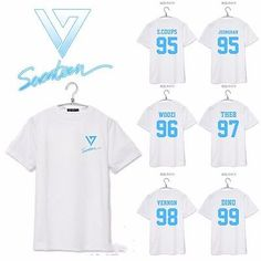 I'll buy one when I find my bias KPOP Seventeen 17 Tshirt T-shirt Tee Unisex WOOZI JEONGHAN VERNON HOSHI JUN THE8