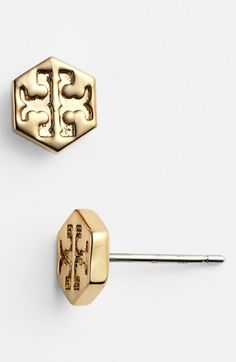 Tory Burch Logo Stud Earrings available at #Nordstrom  Zach please check my Pinterest lol