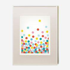 B+C Confetti Art Prints