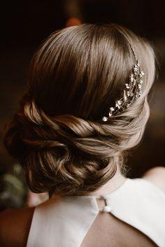 Elegant Bridal Updo    Vintage Bridal Updo