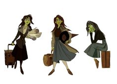 Wicked's Elphaba animation concept by Minkyu Lee. ★ || CHARACTER DESIGN REFERENCES | キャラクターデザイン  •