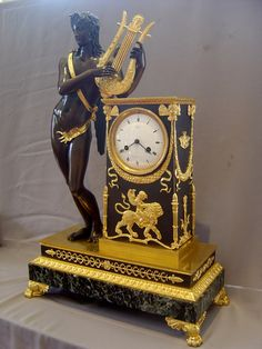 "ormolu mask empire French OR empire OR style OR clocks OR furniture ""ormolu"" Tabletop Clocks, Mantel Clocks, Clock Decor, Antique Wall Clocks, Old Clocks, Vintage Clocks, French Clock, Unusual Clocks, Outdoor Clock"