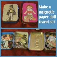 make a magnetic paper doll travel set