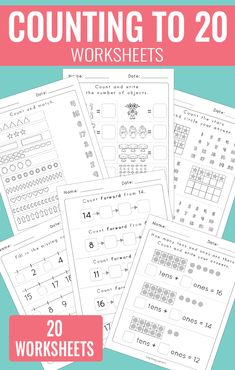 Counting to 20 Worksheets