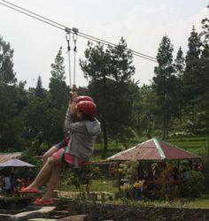 Flying Fox merupakan kegiatan olahraga petualang yang melibatkan pelatihan keberanian dan fokus. Setiap peserta melakukan peluncuran pada ketinggian sekitar 15 meter dengan panjang lintasan mencapai 300 meter.  info@citraalam.com