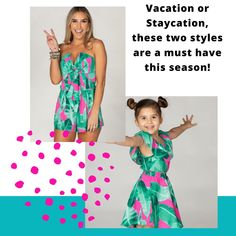 I've gotten a lot of requests for Mommy & Me styles, and I'm a liiiiiittle obsessed with this print and the fact that it comes in a kid size makes me wish my daughter was little again. Romper is XS-L, and the two piece set for girls I have 12m-6T 😍 Tag a Girl Mom who needs to see this! Two Piece Sets, Staycation, Mommy And Me, Must Haves, To My Daughter, Two By Two, Strapless Dress, Things To Come, Rompers