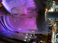 Swarovski chandelier at the cosmopolitan hotel in Las Vegas..