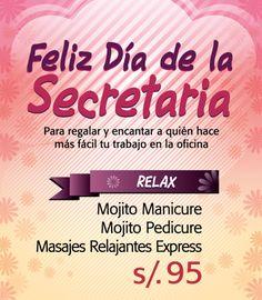 """Por el Día de la Secretaría, ella tiene merecido mucho """"relax""""."""