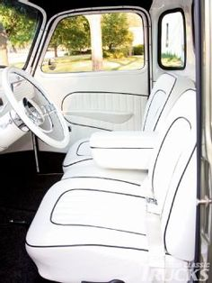 Ideas Classic Truck Interior Wheels For 2019 Hot Rod Trucks, Old Trucks, Fire Trucks, Pickup Trucks, Classic Trucks Magazine, Monster Truck Birthday, Car Upholstery, Truck Interior, Chevrolet Trucks