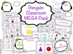 How cute would this Penguin Classroom theme be? It has over 150 pages worth of decorations to help get your room ready for a new school year!