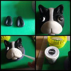 Pas cupcakes # 1: francuski Buldog cupcake - by Laylah22@CakesDecor.com - torta uređenje web Stranice