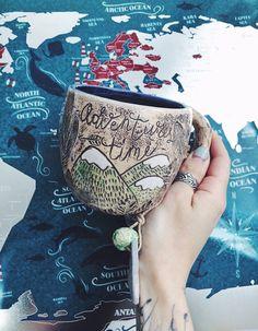 Montagnes de tasse en céramique, tasse en céramique, fait à la main poterie rustique tasse pour le thé