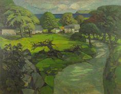 The Road to Gower, John Elwyn, oil on canvas, 1963. Martin Tinney Gallery
