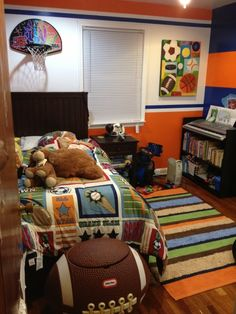 Fun and colorful boys sports bedroom, Fun and colorful boys bedroom, Boys' Rooms Design