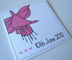Pack of 10 Fuchsia Love Wedding Invitations £22.50