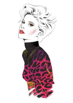 Fashion illustration/Girl wears Pink by InspirationNeverEnds, $25.00