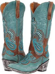 old gringo bell turquoise brass sintino toe/heel cowgirl boots - Schuhstiefel Mode Country, Estilo Country, Western Wear, Western Boots, Buy Shoes, Me Too Shoes, Old Gringo Boots, Over Boots, Shoe Boots