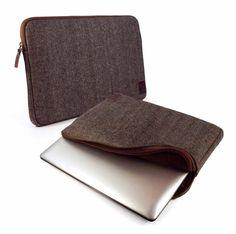 """Tuff-Luv Herringbone Tweed sleeve case cover 13"""" MacBook Air Pro Retina - brown #TuffLuv"""