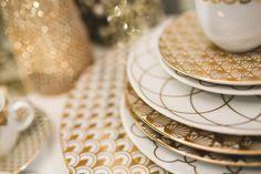 art of deco Gift Packaging, Packaging Design, Gold Decorations, Fine Porcelain, Hand Blown Glass, Modern Classic, Art Deco, Branding, Plates
