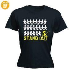 Fonfella Slogans Damen T-Shirt, Slogan Schwarz Schwarz Größe L - Shirts mit spruch (*Partner-Link)