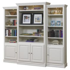 "A&E Wood Designs French Restoration Kamran 86"" Bookcase"