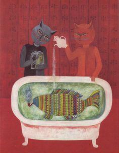 Viera Gergel'ova, 1972, illustration for Puf a Muf by Natasa Tanska
