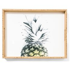 Deny Designs Pineapple Serving Tray ($59) ❤ liked on Polyvore featuring home, kitchen & dining, serveware, white, white serveware, deny designs and white serving tray