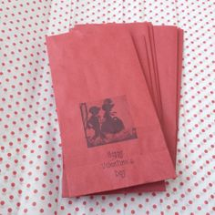 Valentine BAGS   RED Paper with Vintage Retro by CreativeDesigns, $4.50