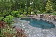 Maine Retreat - traditional - pool - manchester NH - by Woodburn & Company Landscape Architecture, LLC