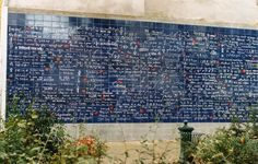 Le Mur Des Je T'aime/I Love You: The Wall (I Love You, in hundreds of languages – Located in Paris, Buttes Montmartre, Place des Abbesses, in the Square Jehan Rictus. Metro: Abbesses.) @Alison Staeheli