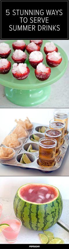 5 Stunning Ways to Serve Summer Drinks