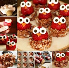 Owl Strawberries These are so cute!!  www.fb.com/ampurdy