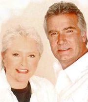Original cast members ‎Susan Flannery and John McCook as Stephanie and Eric Forrester.