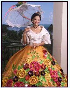 Philippine National Symbol or Mga Pambansang Sagisag ng Pilipinas Maria Clara Dress Philippines, Philippines Outfit, Philippines Fashion, Philippines Culture, Modern Filipiniana Gown, Filipiniana Wedding, Barong Tagalog, Filipino Culture, Costumes Around The World