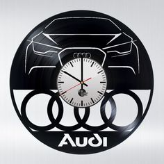Audi Cars Handmade Vinyl Record Wall Clock - VINYL CLOCKS