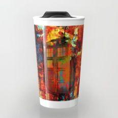 Tardis Rainbow Travel Mug