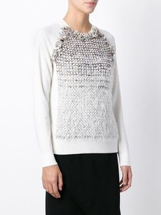 contrasting panel sweater