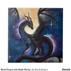 Here's another dragon idea. A night dragon who's wings sparkle like the night sky depending on the visibility of stars outside. She's solid black in color and doesn't fly, rather walking and climbing. She also loves to hang out with the bats in my room. Fantasy Kunst, Fantasy Art, Dragon Medieval, Dragon Artwork, Dragon Drawings, Cool Dragons, Dragon Pictures, Dragon's Lair, Wings Of Fire