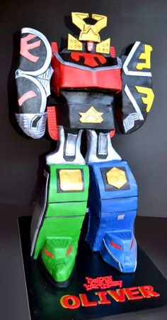 Power Ranger Megazord Cake