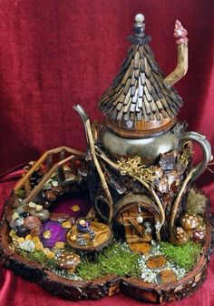 Have Branwen make a fairy house with her new tool kit.  This is just inspiration!