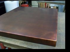 23 - Bronzed Copper Table Top x x thick Beach House Kitchens, Home Kitchens, Copper Top Table, Copper Interior, Private Dining Room, Copper Sheets, Bronze, House Design, Interior Design