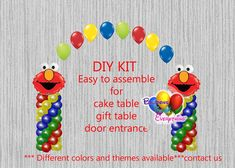 Spiderman Birthday Balloons, Super Heroes Spiderman Cake Table, Gift Table, Spiderman Party Decorations, DIY KIT easy to assemble Elmo Birthday, Birthday Balloons, 1st Birthday Parties, Birthday Ideas, Birthday Outfits, Dinosaur Birthday, Birthday Cake, Birthday Party Decorations Diy, Balloon Decorations Party
