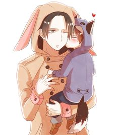 Levi and lil' Eren.
