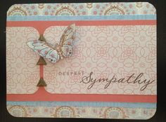 Deepest Sympathy Butterfly Balloon Ride Card
