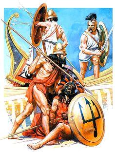 """""""Naval battle - Peloponnesian War, V century BC""""   Andrey Karashchuk"""
