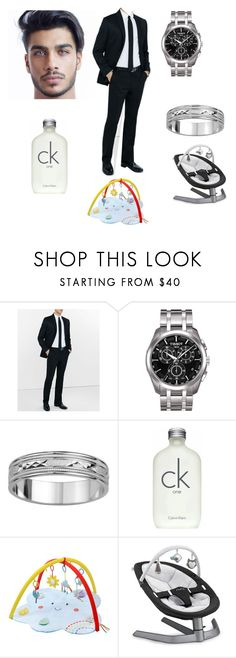 """""""Work day w/ baby"""" by xxqueenmoxx on Polyvore featuring Express, Tissot, Groove, Calvin Klein, Nuna, men's fashion and menswear"""