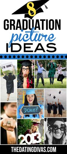Lots of great photography inspiration and examples for graduation and cap and gown photos. www.TheDatingDivas.com
